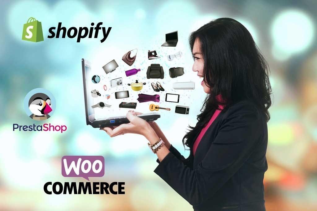 Shopify, PrestaShop y WooCommerce, tres buenas opciones para crear tu tienda online y sus características principales